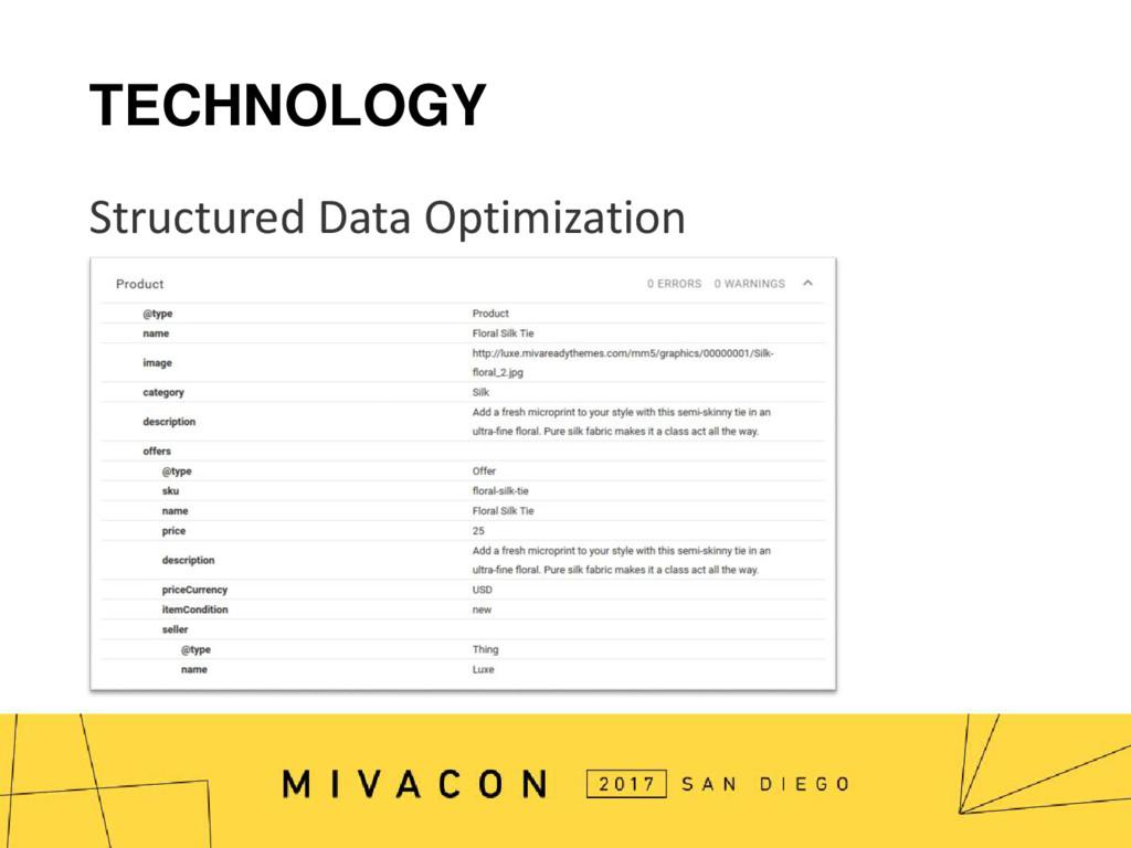 TECHNOLOGY Structured Data Optimization