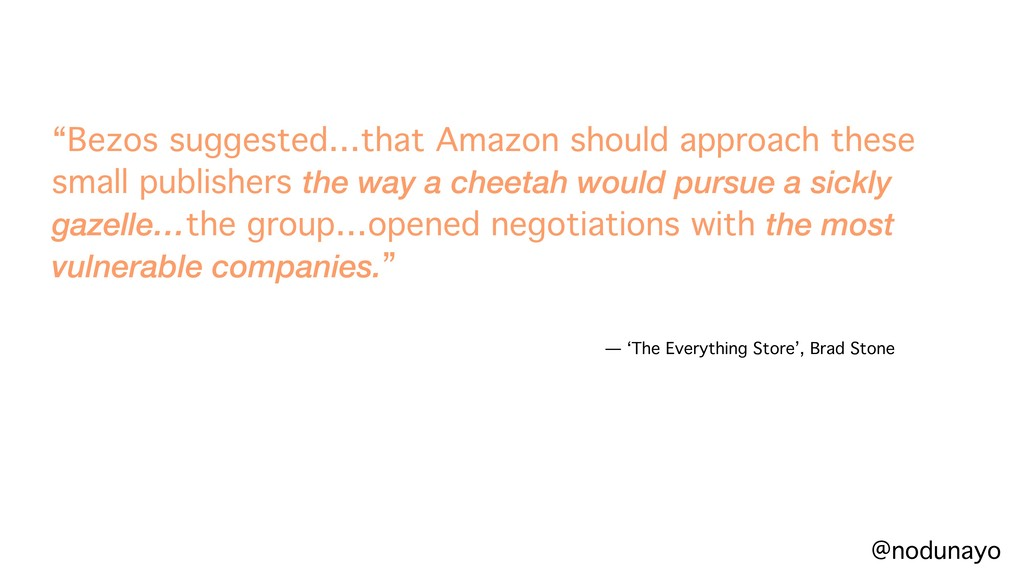 """Bezos suggested…that Amazon should approach th..."