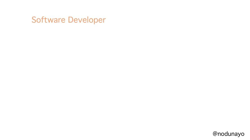 @nodunayo Software Developer