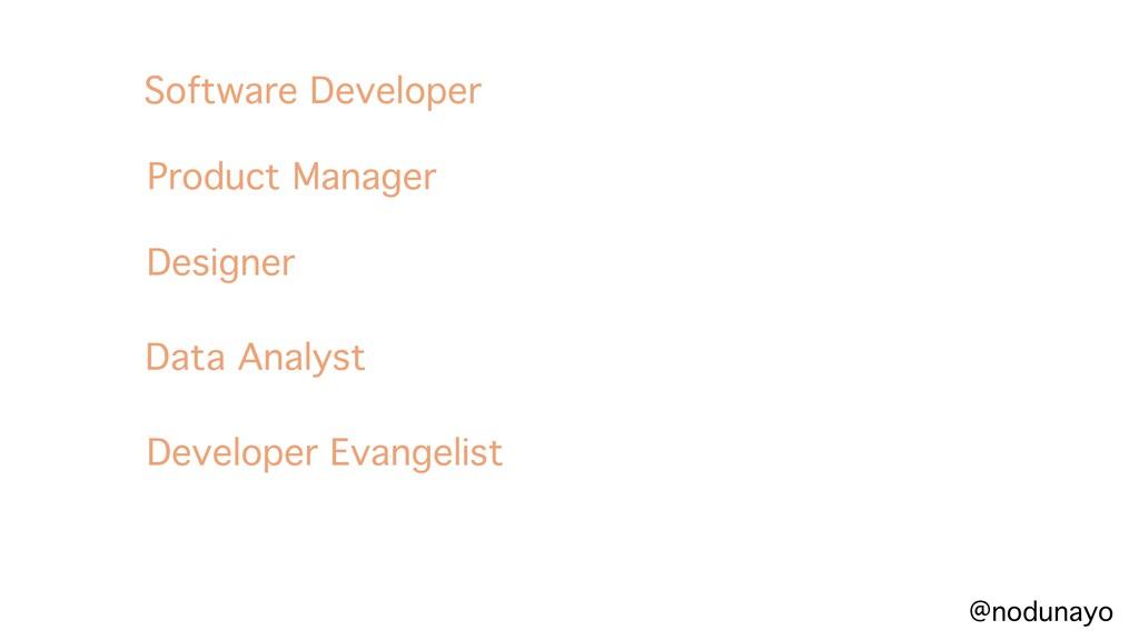 @nodunayo Software Developer Product Manager De...
