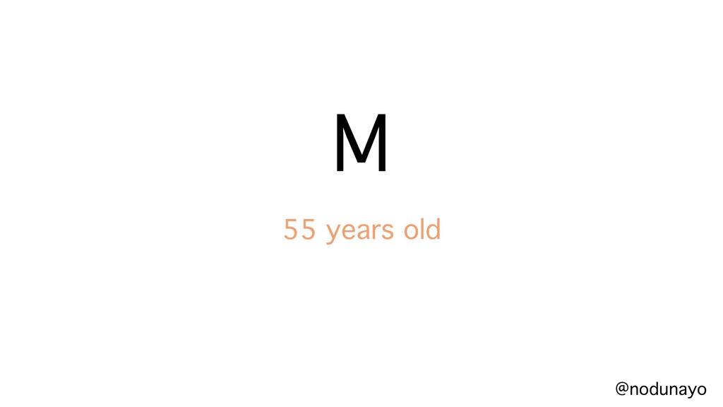 @nodunayo M 55 years old