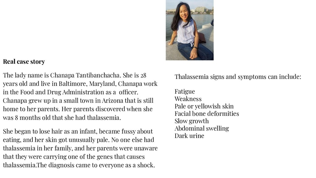 Real case story The lady name is Chanapa Tantib...