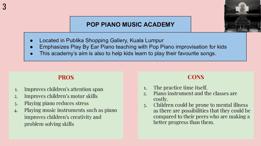 3 POP PIANO MUSIC ACADEMY ● Located in Publika ...