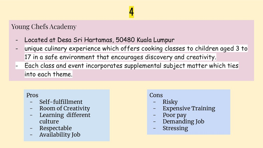 4 Young Chefs Academy - Located at Desa Sri Har...