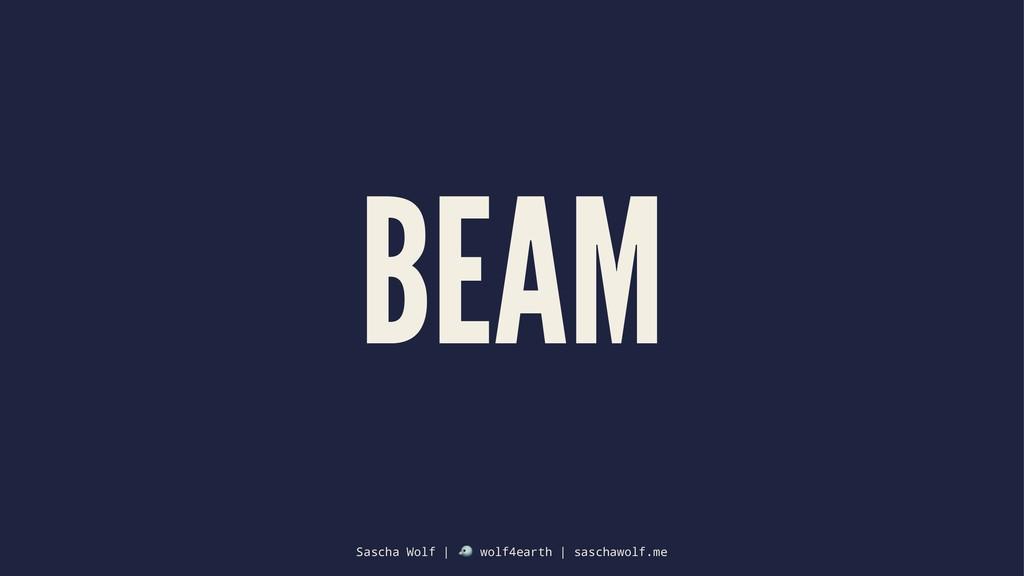 BEAM Sascha Wolf | ! wolf4earth | saschawolf.me