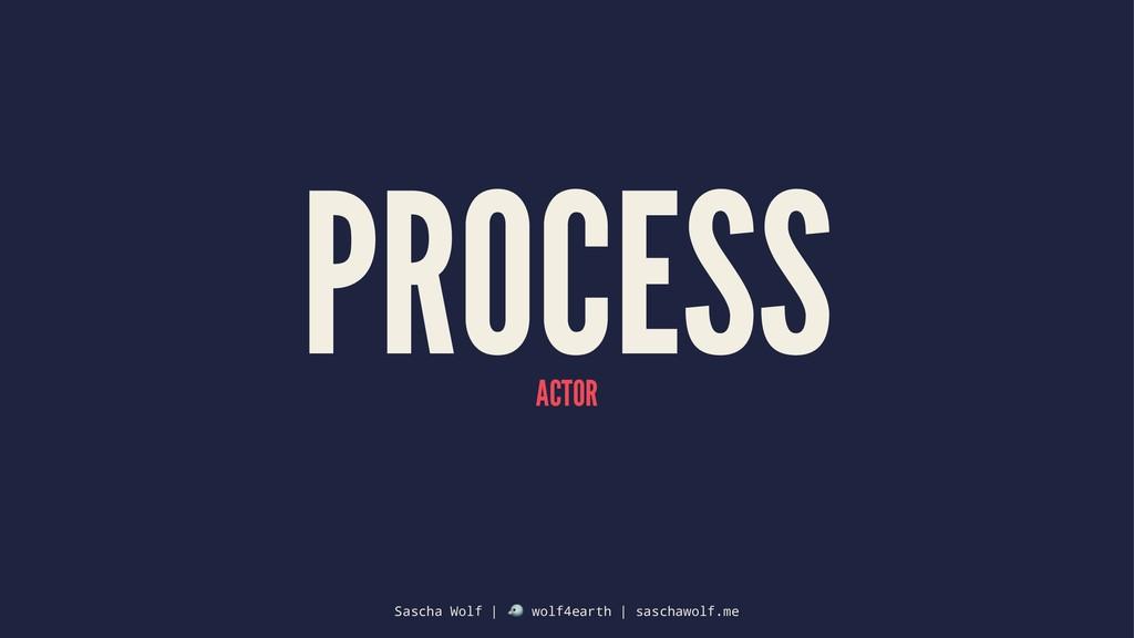 PROCESS ACTOR Sascha Wolf | ! wolf4earth | sasc...