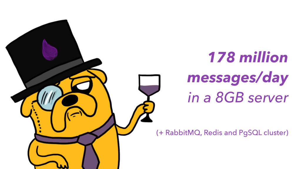 178 million messages/day in a 8GB server (+ Rab...