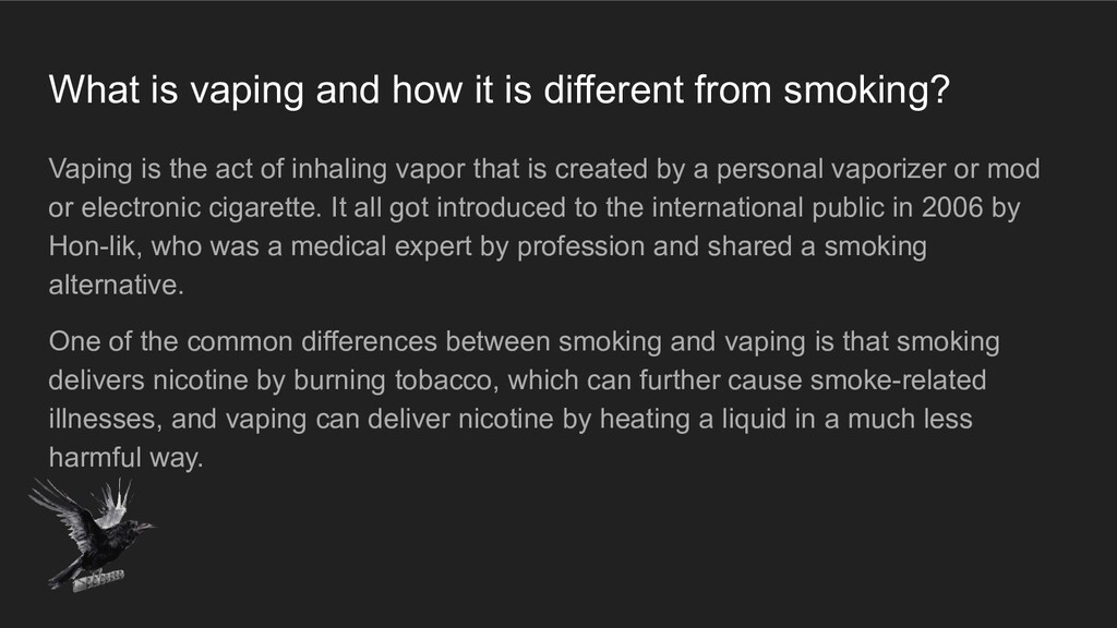 What is vaping and how it is different from smo...