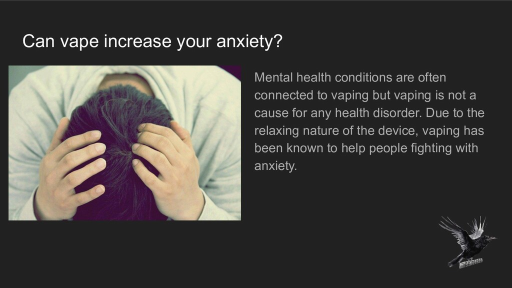 Can vape increase your anxiety? Mental health c...