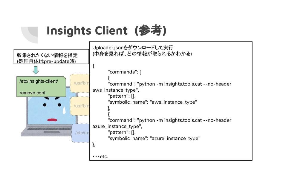 Insights Client (参考) /usr/bin/insights-client /...