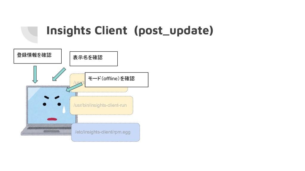 Insights Client (post_update) /usr/bin/insights...