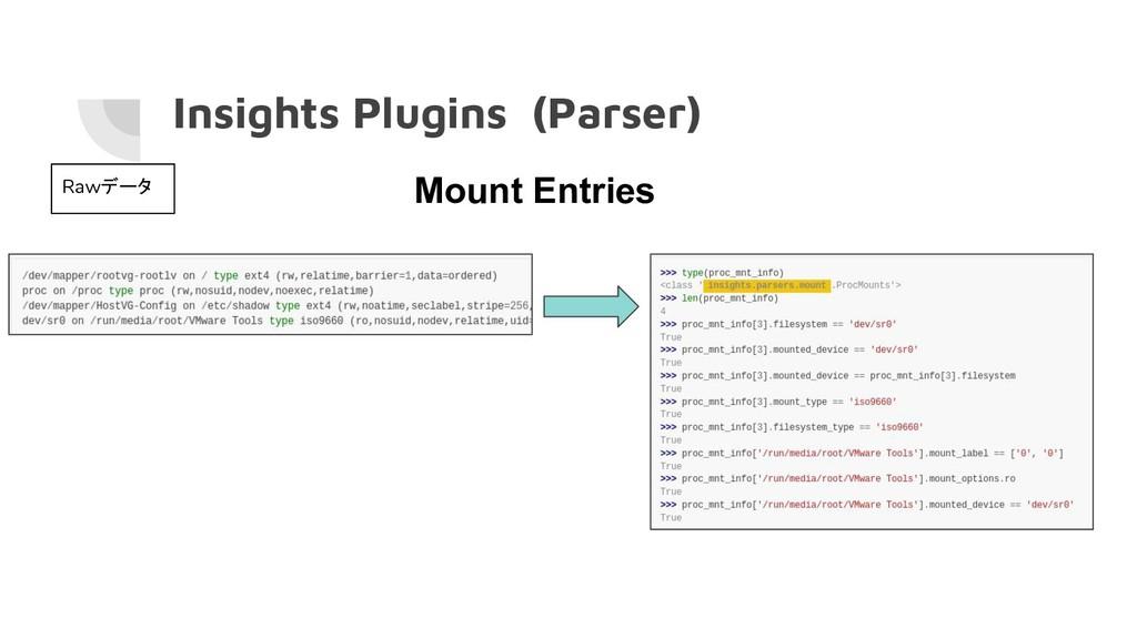Insights Plugins (Parser) Rawデータ Mount Entries