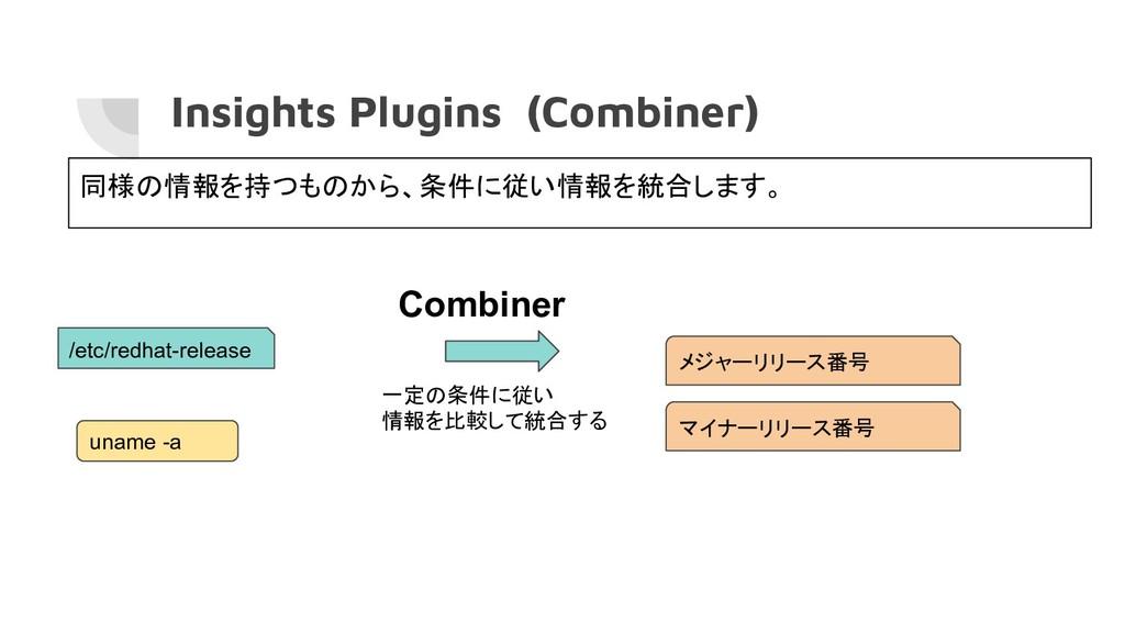Insights Plugins (Combiner) Combiner /etc/redha...