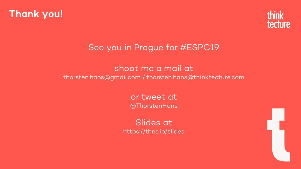 Thank you! See you in Prague for #ESPC19 shoot ...