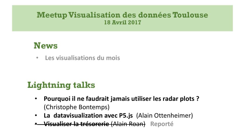 MeetupVisualisation des données Toulouse 18 Avr...