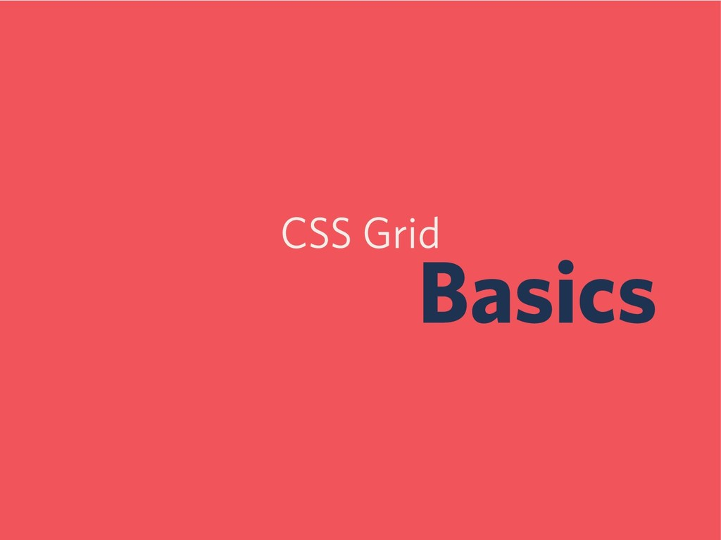 CSS Grid Basics