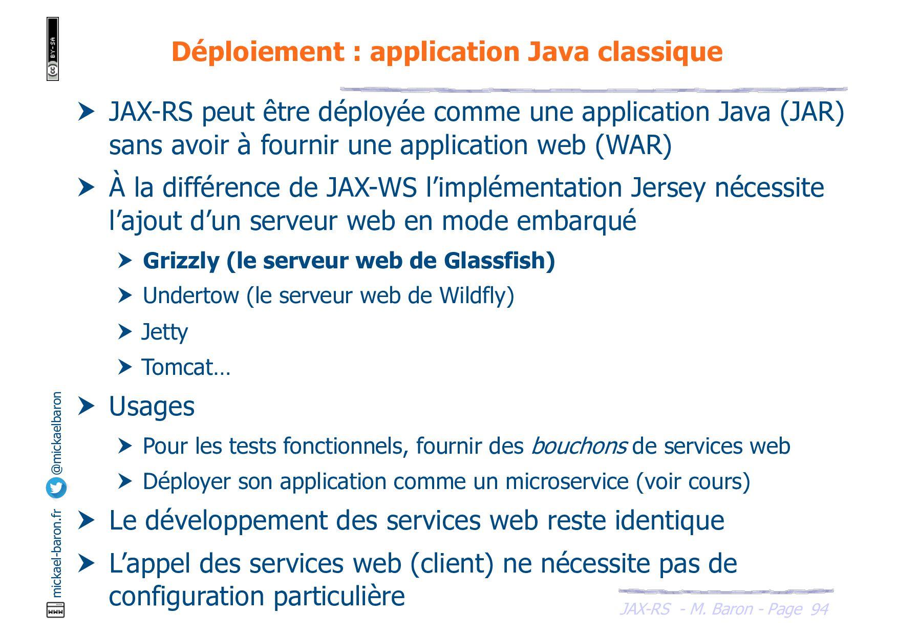 JAX-RS - M. Baron - Page mickael-baron.fr @mick...