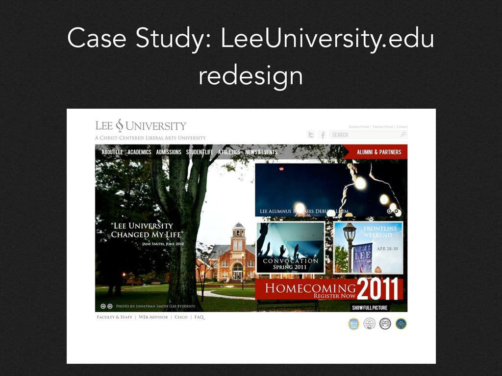Case Study: LeeUniversity.edu redesign