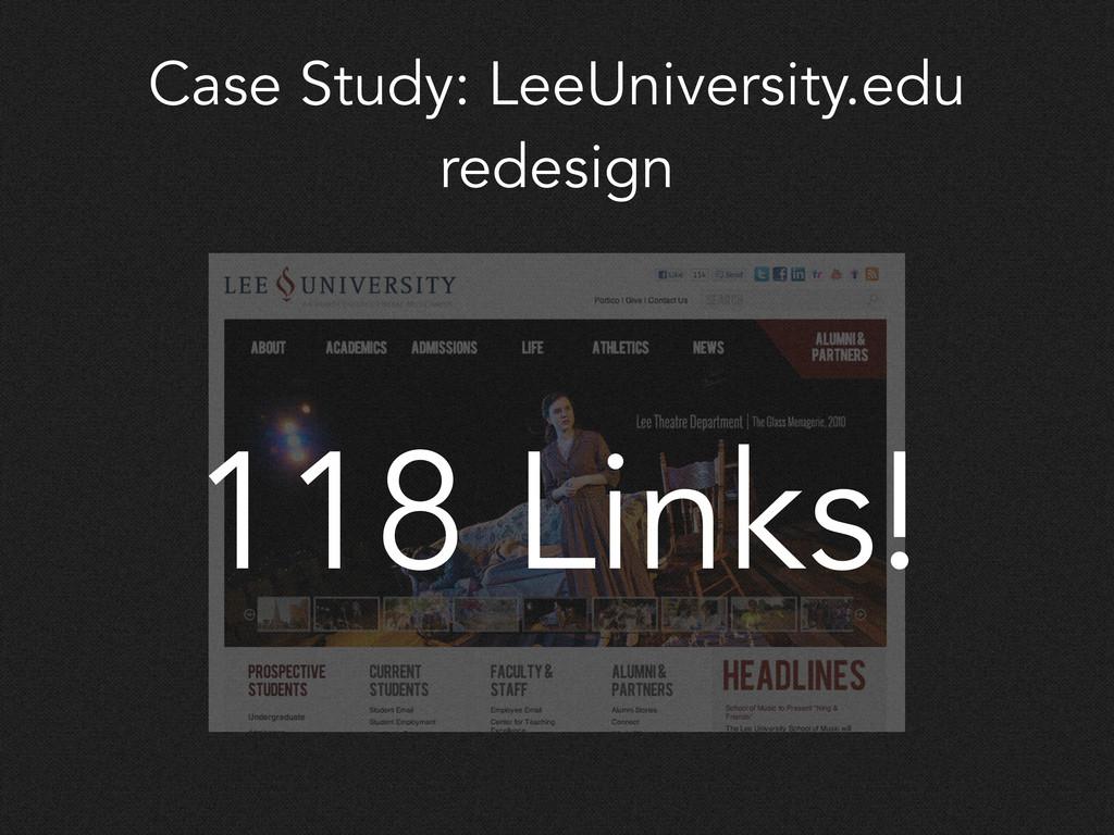 Case Study: LeeUniversity.edu redesign 118 Link...