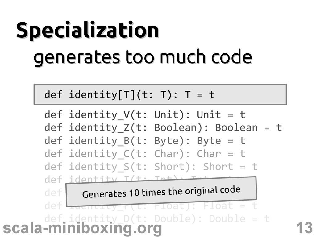 13 scala-miniboxing.org Specialization Speciali...