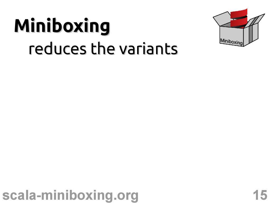 15 scala-miniboxing.org Miniboxing Miniboxing r...
