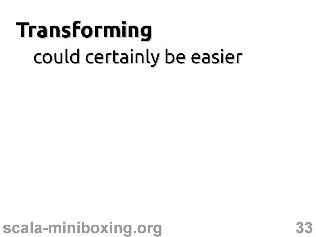 33 scala-miniboxing.org Transforming Transformi...
