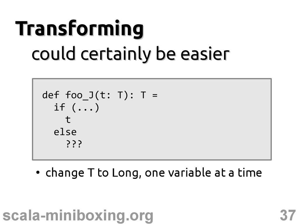 37 scala-miniboxing.org Transforming Transformi...