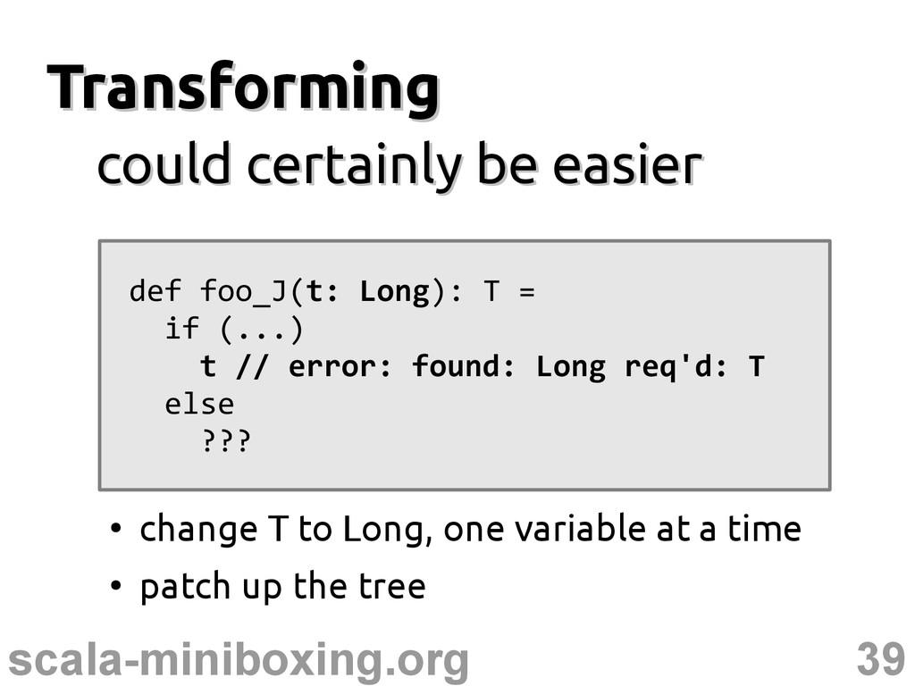 39 scala-miniboxing.org Transforming Transformi...