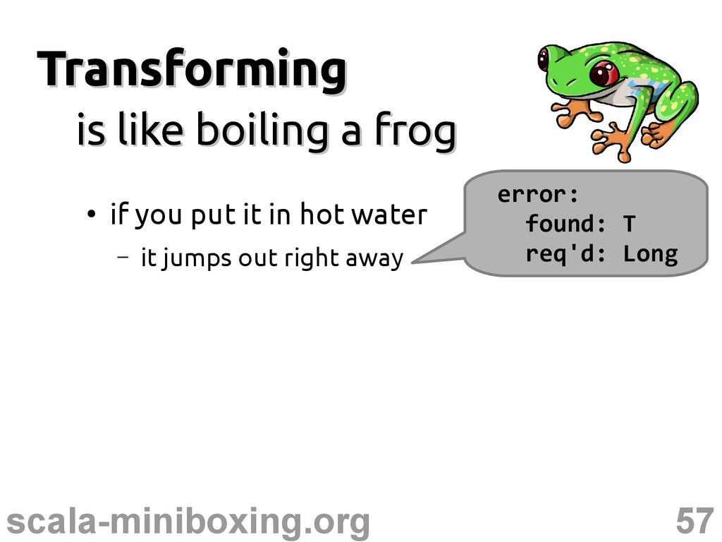 57 scala-miniboxing.org Transforming Transformi...
