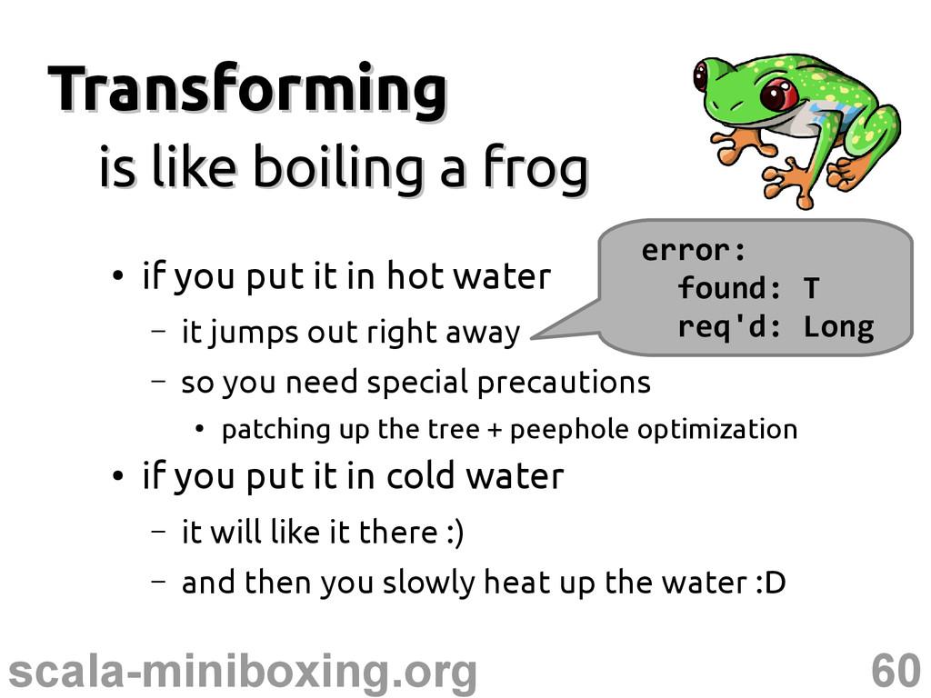 60 scala-miniboxing.org Transforming Transformi...