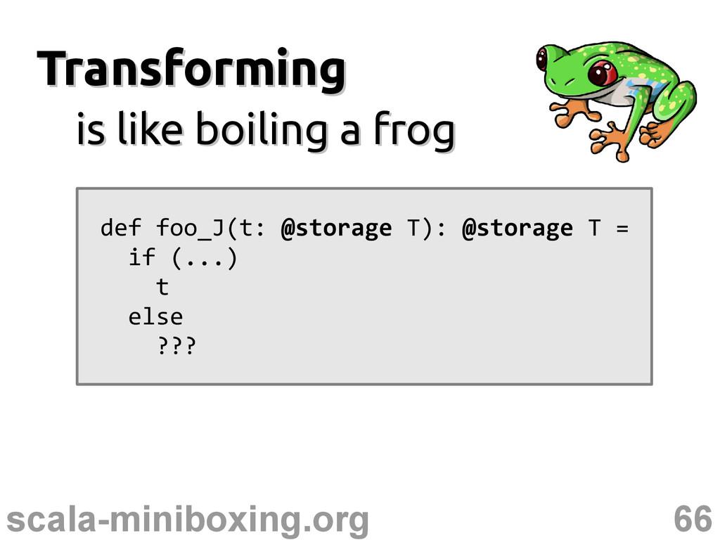 66 scala-miniboxing.org Transforming Transformi...