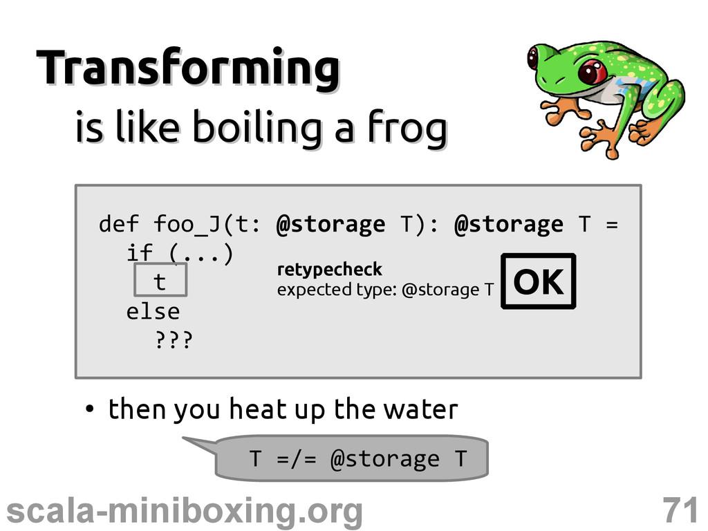 71 scala-miniboxing.org Transforming Transformi...