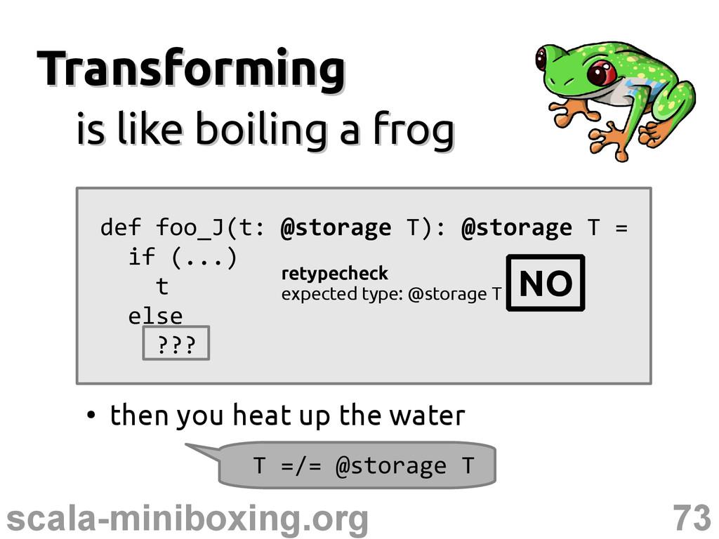 73 scala-miniboxing.org Transforming Transformi...