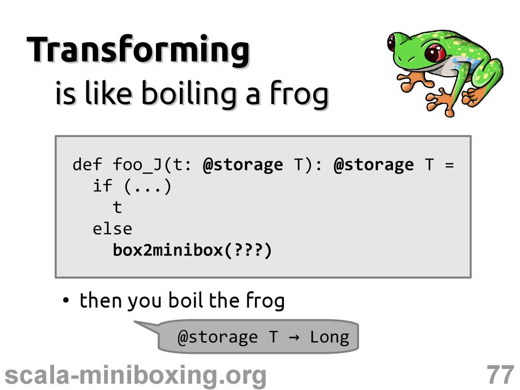 77 scala-miniboxing.org Transforming Transformi...