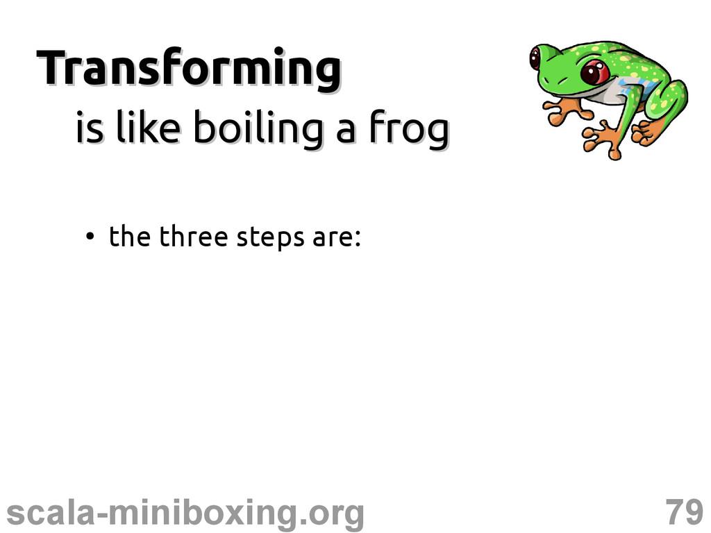 79 scala-miniboxing.org Transforming Transformi...