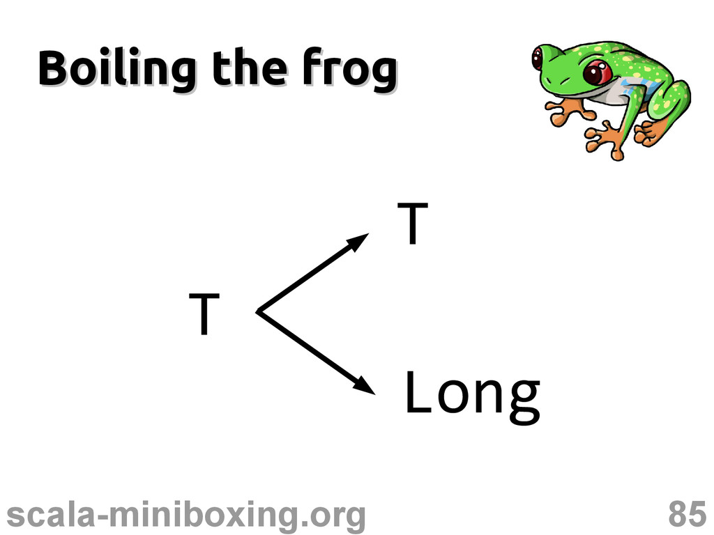 85 scala-miniboxing.org Boiling the frog Boilin...