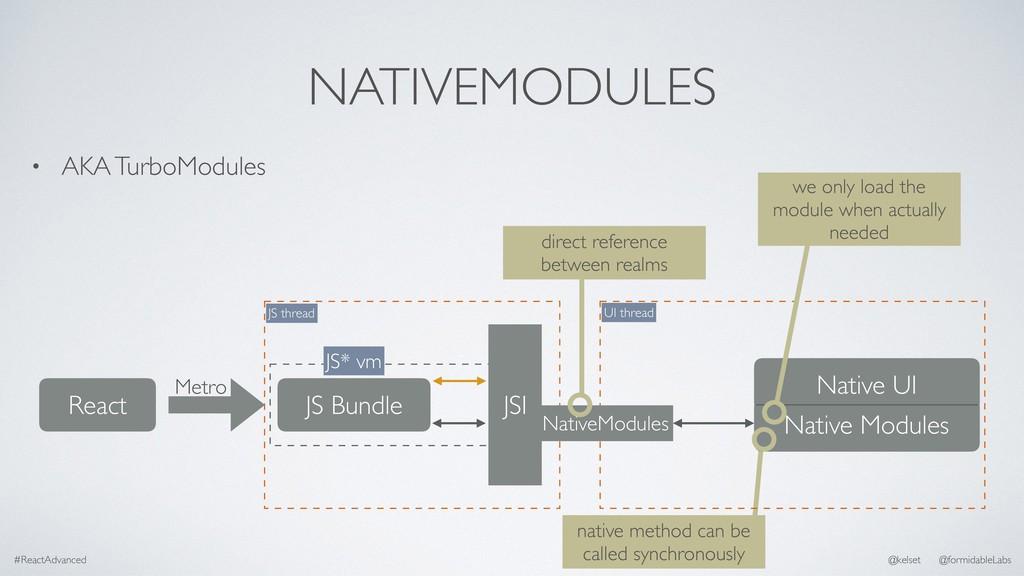 NATIVEMODULES • AKA TurboModules #ReactAdvanced...