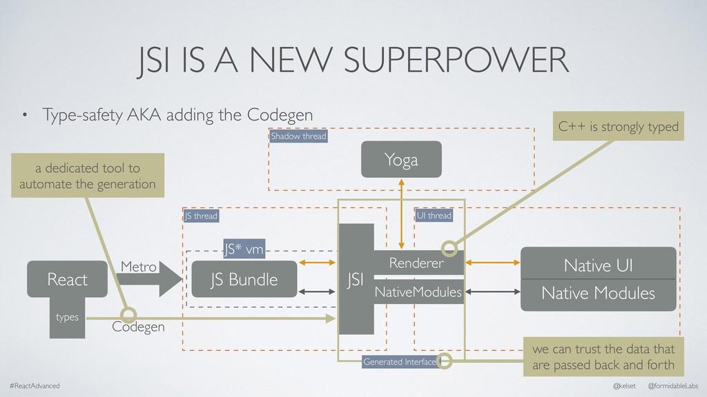 JSI IS A NEW SUPERPOWER • Type-safety AKA addin...