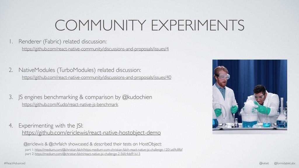 COMMUNITY EXPERIMENTS #ReactAdvanced @kelset @f...