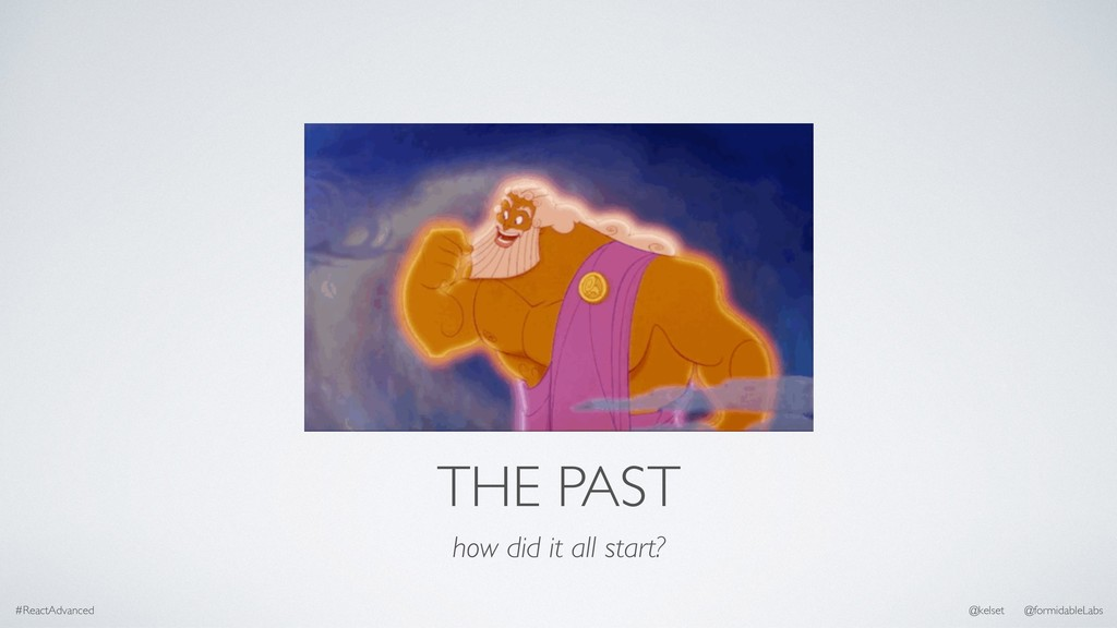 THE PAST how did it all start? #ReactAdvanced @...