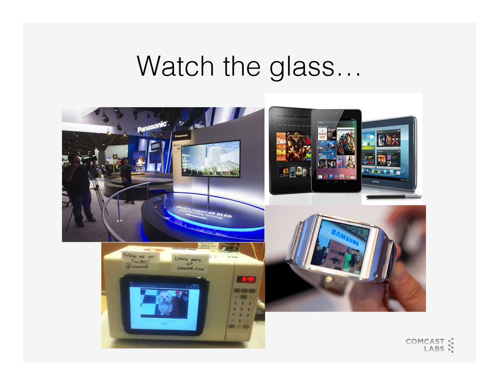 Watch the glass…!