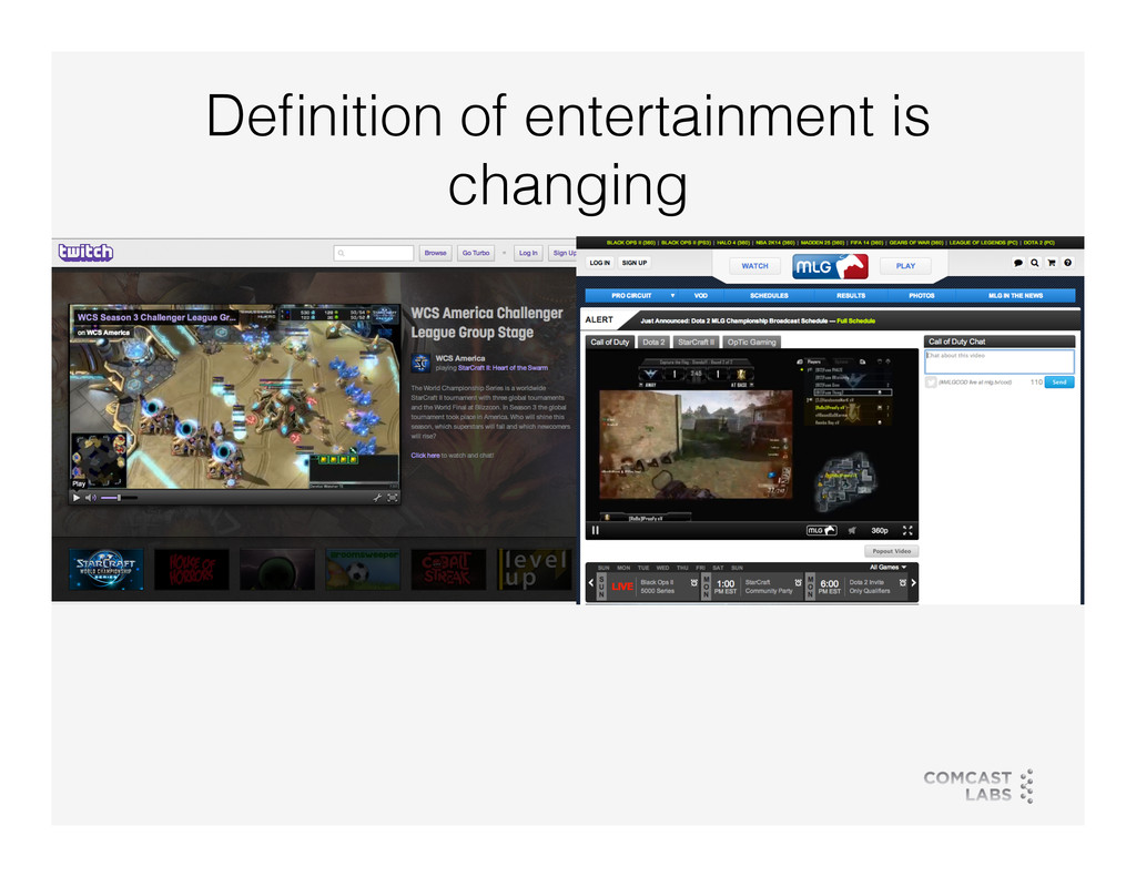 Definition of entertainment is changing!
