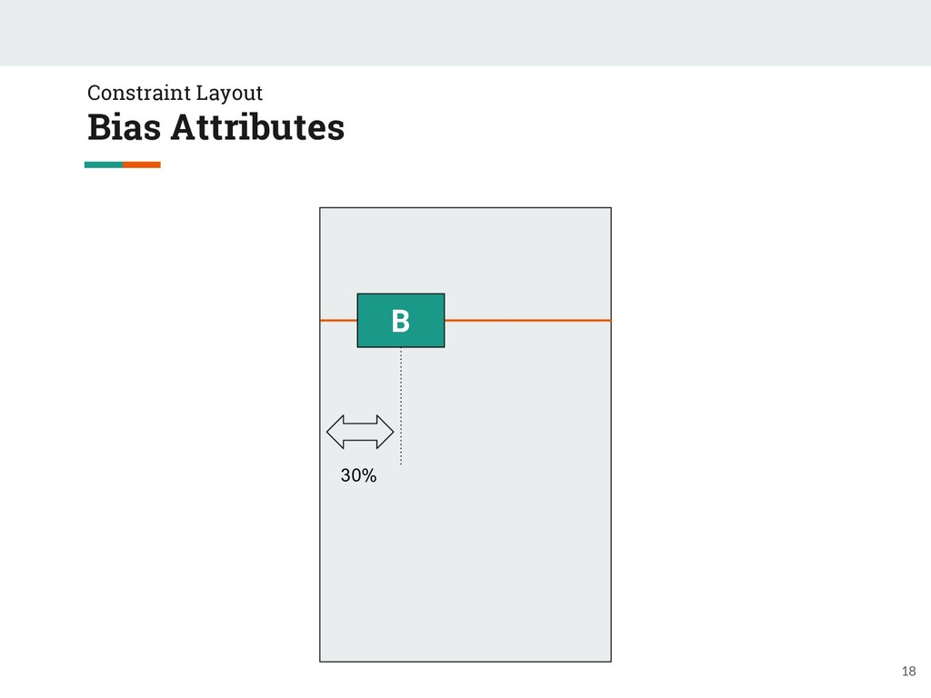 Constraint Layout Bias Attributes 18 B 30%