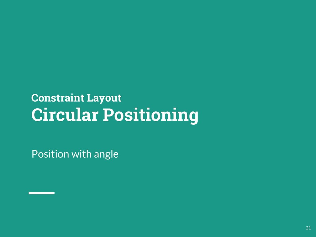 Constraint Layout Circular Positioning Position...