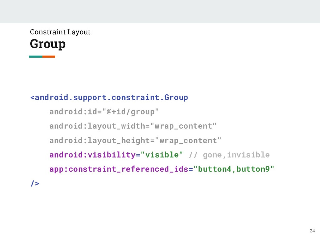 Constraint Layout Group 24 <android.support.con...