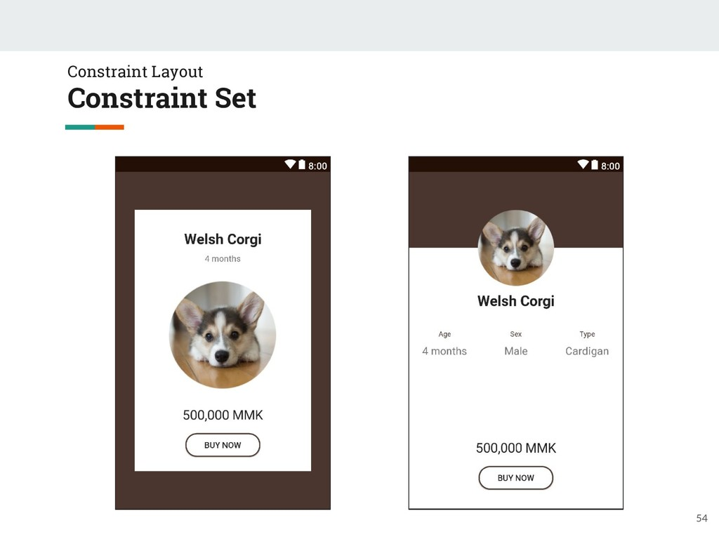 54 Constraint Layout Constraint Set