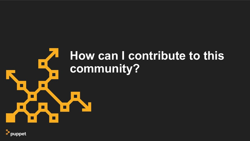 How can I contribute to this community?