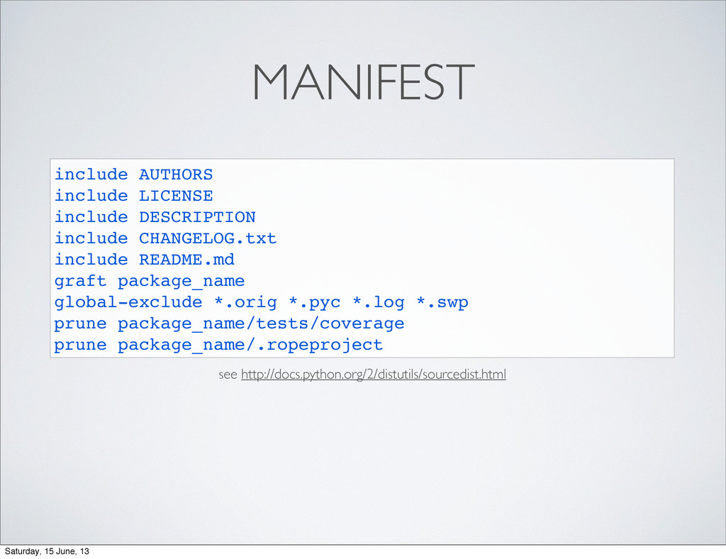 MANIFEST include AUTHORS include LICENSE includ...