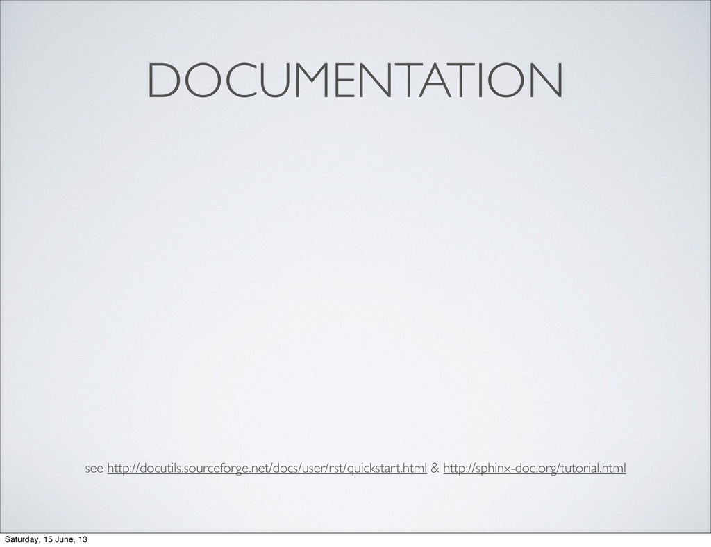 DOCUMENTATION see http://docutils.sourceforge.n...