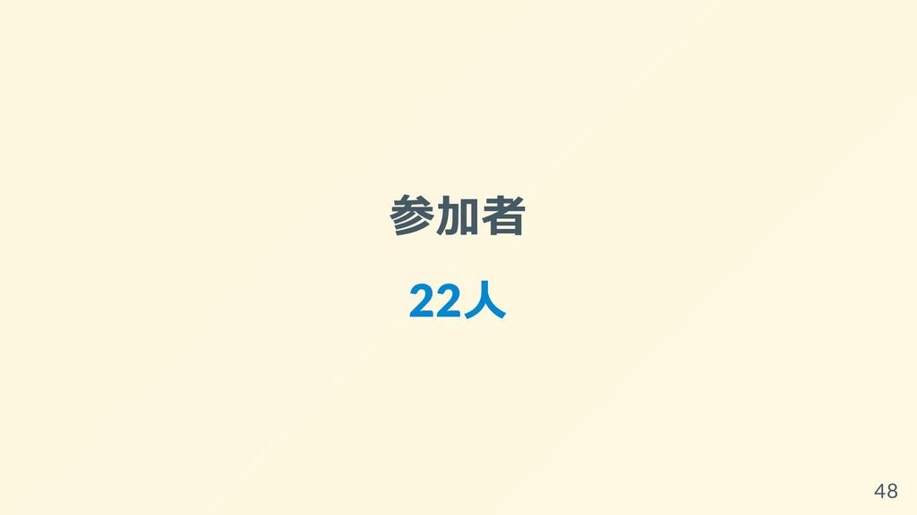 参加者 22⼈ 48